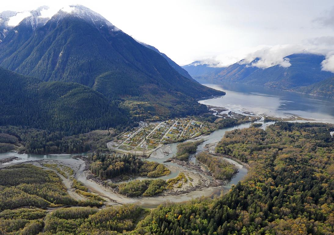 Bella Coola, view from the air