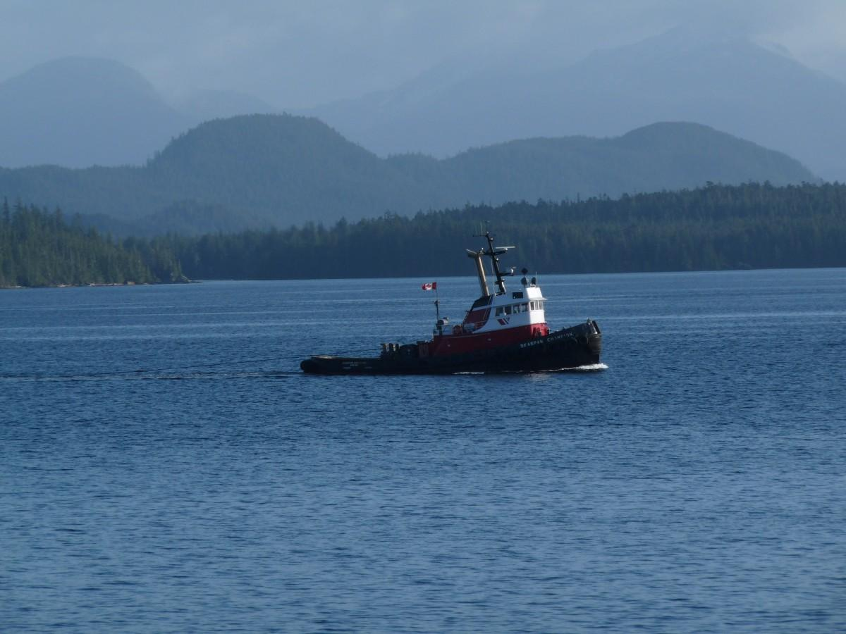 A Canadian coast guard boat