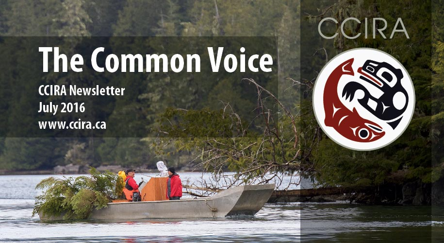The Common Voice, CCIRA Newsletter, July 2016