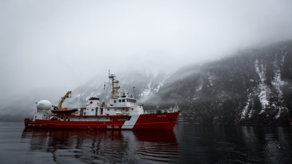 Canadian Coast Guard Vessel Vector on the Central Coast of British Columbia