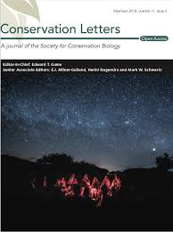 Cover image of Conservation Letters Journal May/June 2018