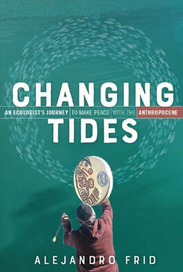 Changing Tides book cover featuring a drummer against a background of a school of fish in a circle.