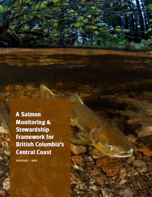 Cover page of a salmon monitoring report for BC's Central Coast